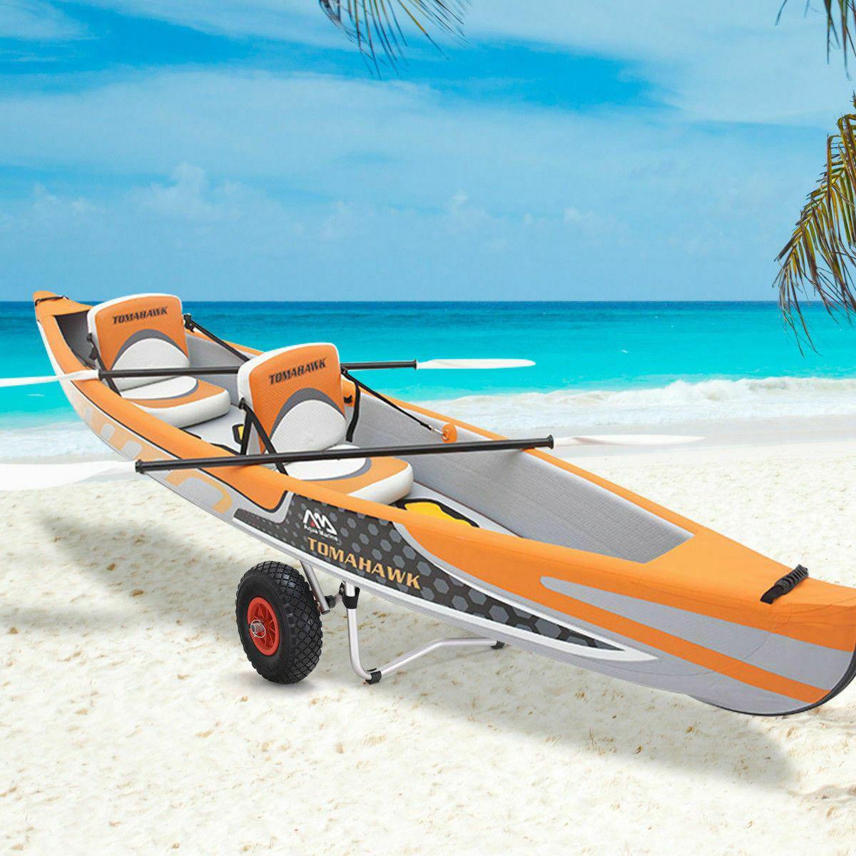 Picture of Kayak Cart Aluminum Boat Canoe Dolly Trailer Carrier