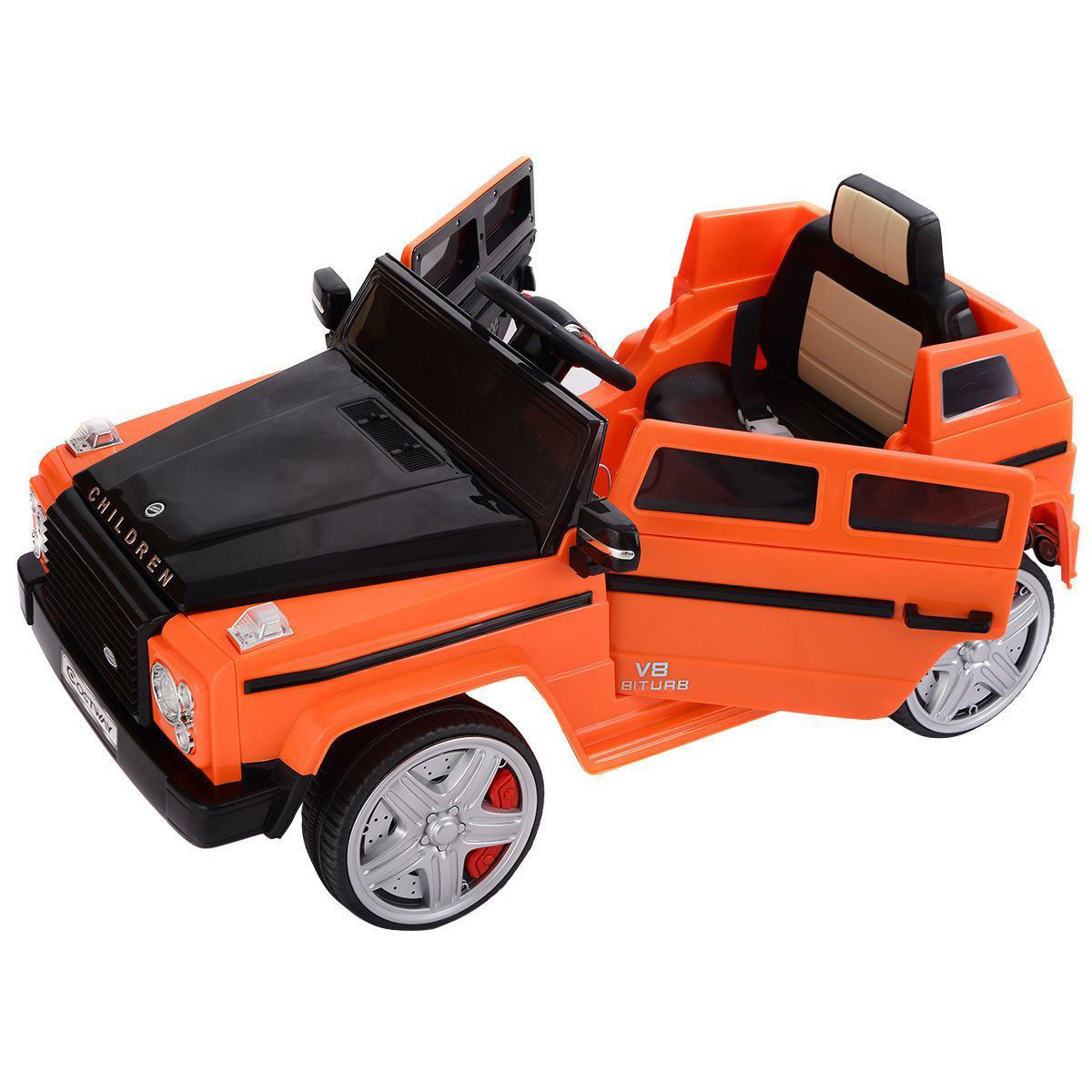 Picture of Kids Baby Ride On Toy Car 12V MP3 Battery Power Wheels RC with Remote Control and LED Lights