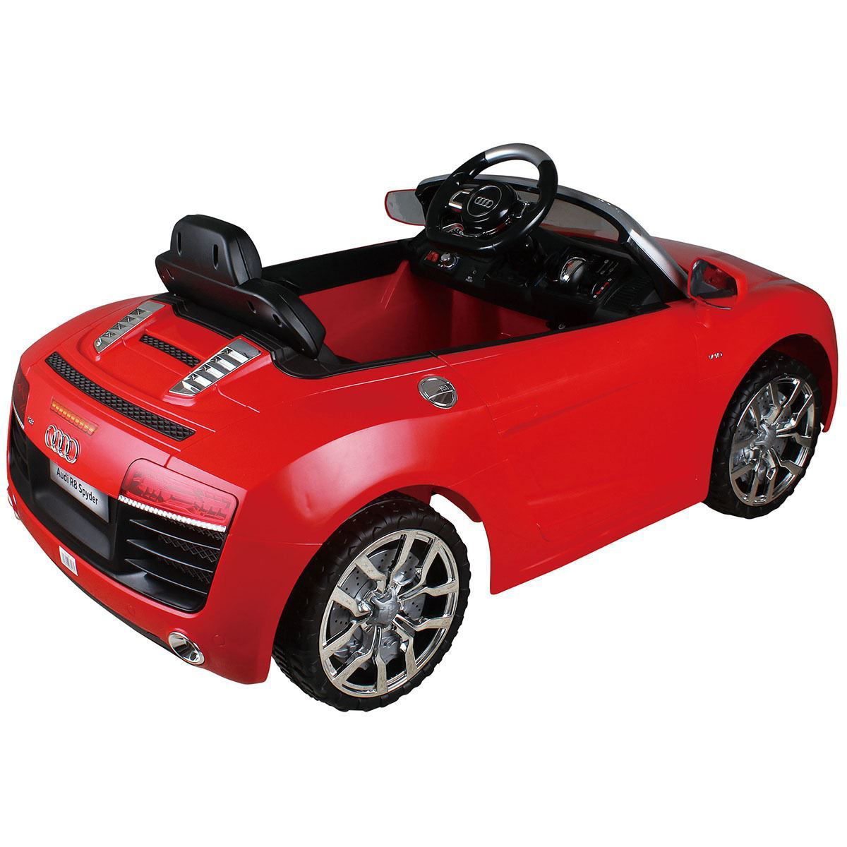 Picture of Kids Ride On Audi R8 Spyder 12V Kids MP3 RC with Remote Control - Red