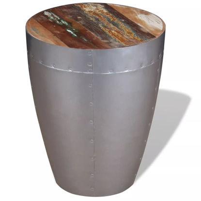 Picture of Kitchen Aviator Stool - Solid Reclaimed Wood
