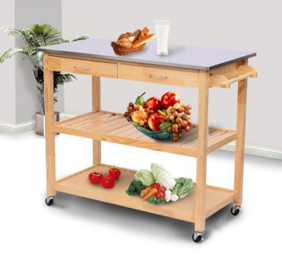 """Picture of Kitchen Cart Trolley Stainless Steel Top - 44"""""""