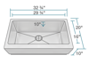 Picture of Kitchen Single Bowl Stainless Steel Apron Sink