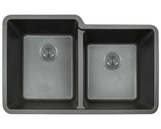 Picture of Kitchen Sink Double Offset Bowl Undermount AstraGranite