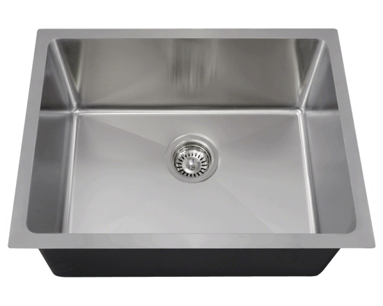 """Picture of Kitchen Stainless Steel Sink Single Bowl 3/4"""" Radius"""