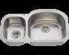 Picture of Kitchen Stainless Steel Undermount Sink Offset