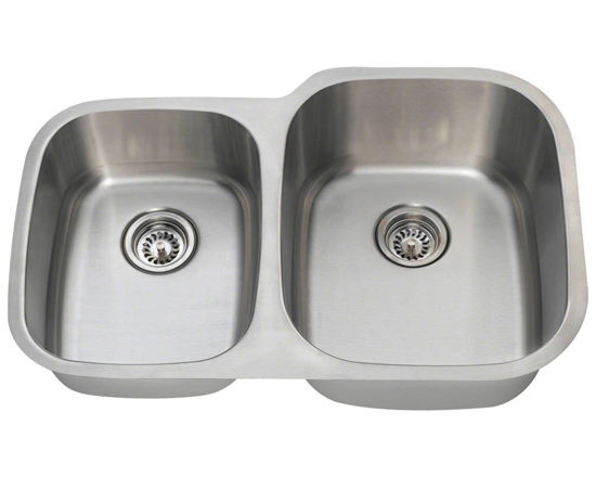 Picture of Kitchen Stainless Steel Undermount Sink Reverse Offset
