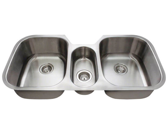Picture of Kitchen Triple Bowl Stainless Steel Sink