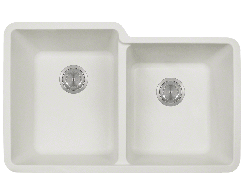 Picture of Kitchen Undermount Sink Double Offset Bowl AstraGranite