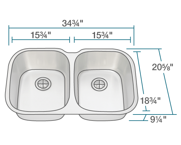Picture of Kitchen Undermount Sink Large Stainless Steel