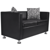 Picture of Living Room 2-Seater Sofa Artificial Leather - Black