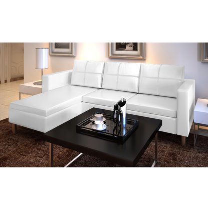 Picture of Living Room L-shaped Sofa - White