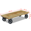 """Picture of Living Room Coffee Table - 47"""" Mango Wood"""