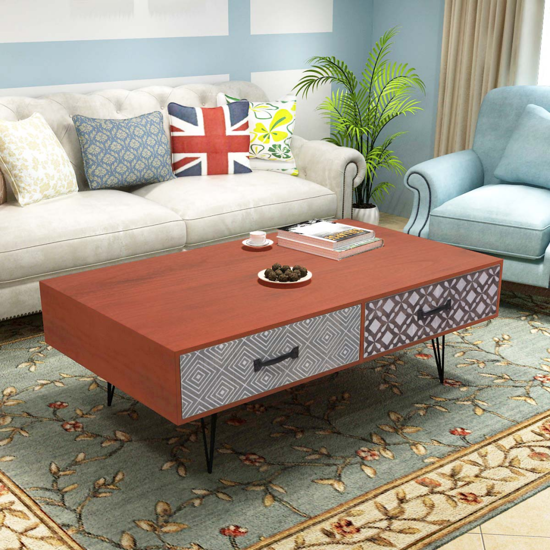 """Picture of Living Room Coffee Table 39"""" - Brown"""