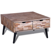 """Picture of Living Room Coffee Table with Drawers - 28"""" Reclaimed Teak"""
