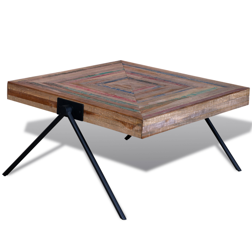 Picture of Living Room Coffee Table with V-shaped Legs - Reclaimed Teak
