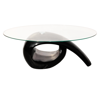 Picture of Living Room Glass Top Coffee Table High Gloss - Black