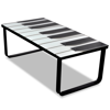 Picture of Living Room Piano Printing Glass Coffee Table