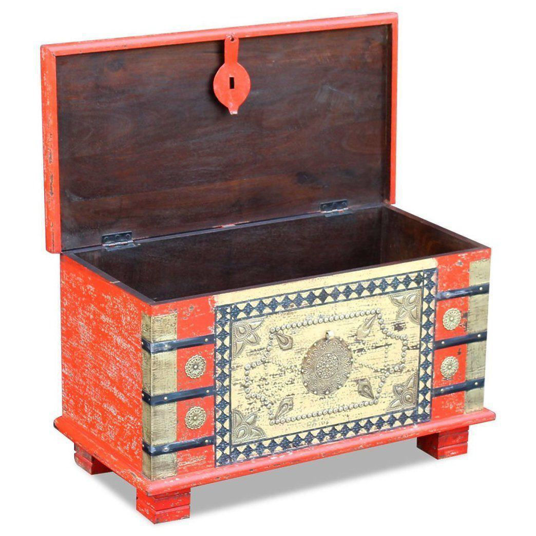Picture of Living Room Storage Chest - Red Mango Wood