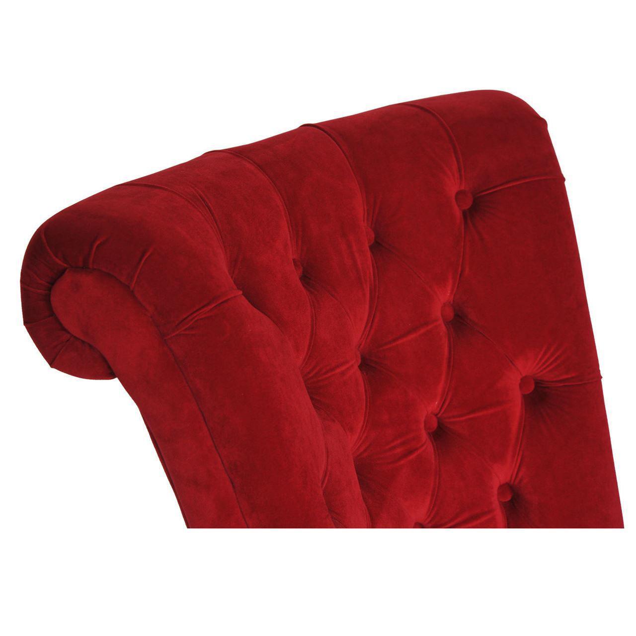 Picture of Living Room Velvet Chair - Red