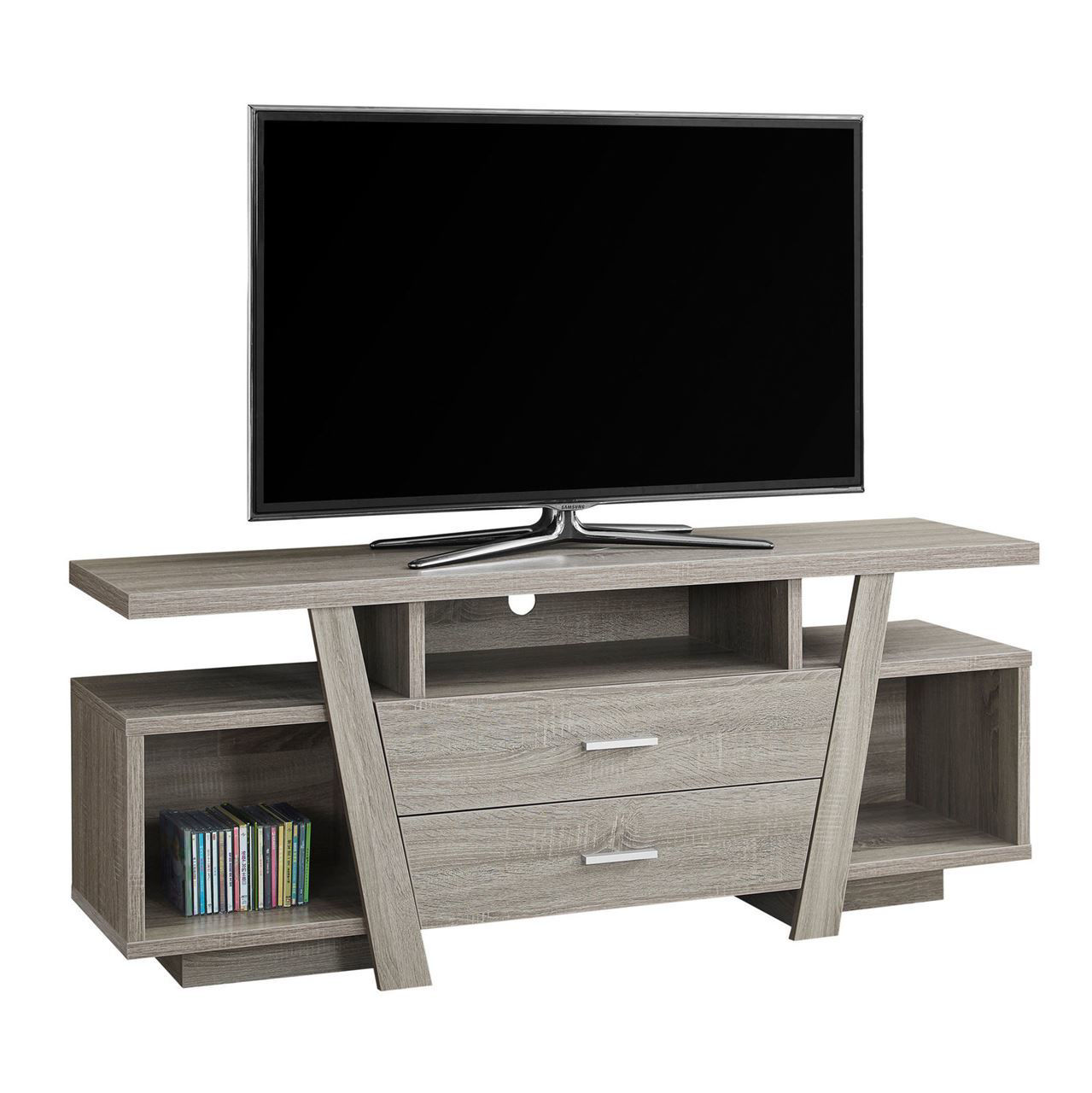 Picture of Living Room TV Stand with 2 Storage Drawers - 60""