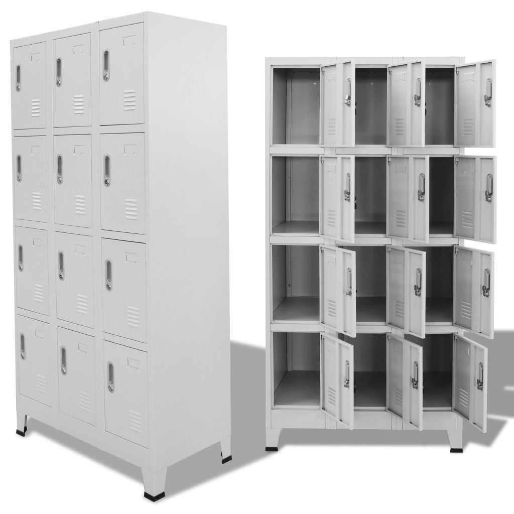 """Picture of Locker Cabinet Storage with 12 Compartments 35"""""""