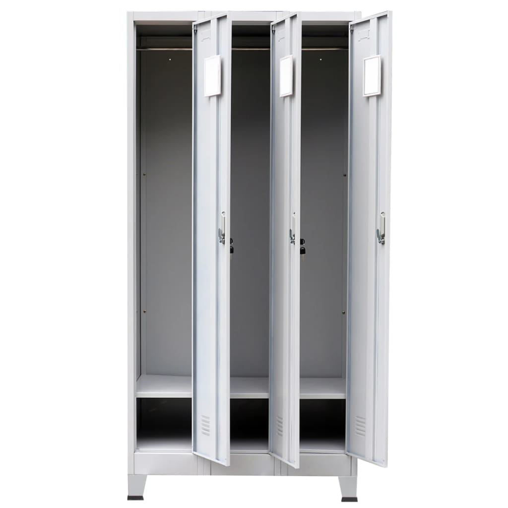 Picture of Locker Cabinet Storage with 3 Compartments Steel 35""