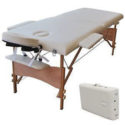 Picture of Massage Table Portable Facial Spa Bed Tattoo with Free Carry Case White 84""