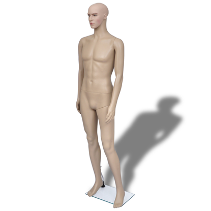Picture of Male Mannequin Full Body Display Head Turns Dress Form with Base