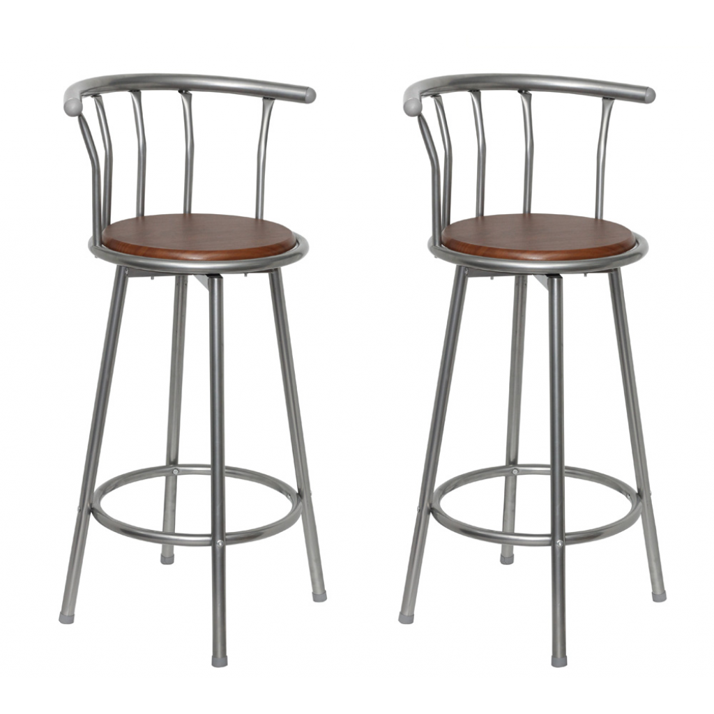 Picture of MDF Bar Stool 2 pcs Steel Frame