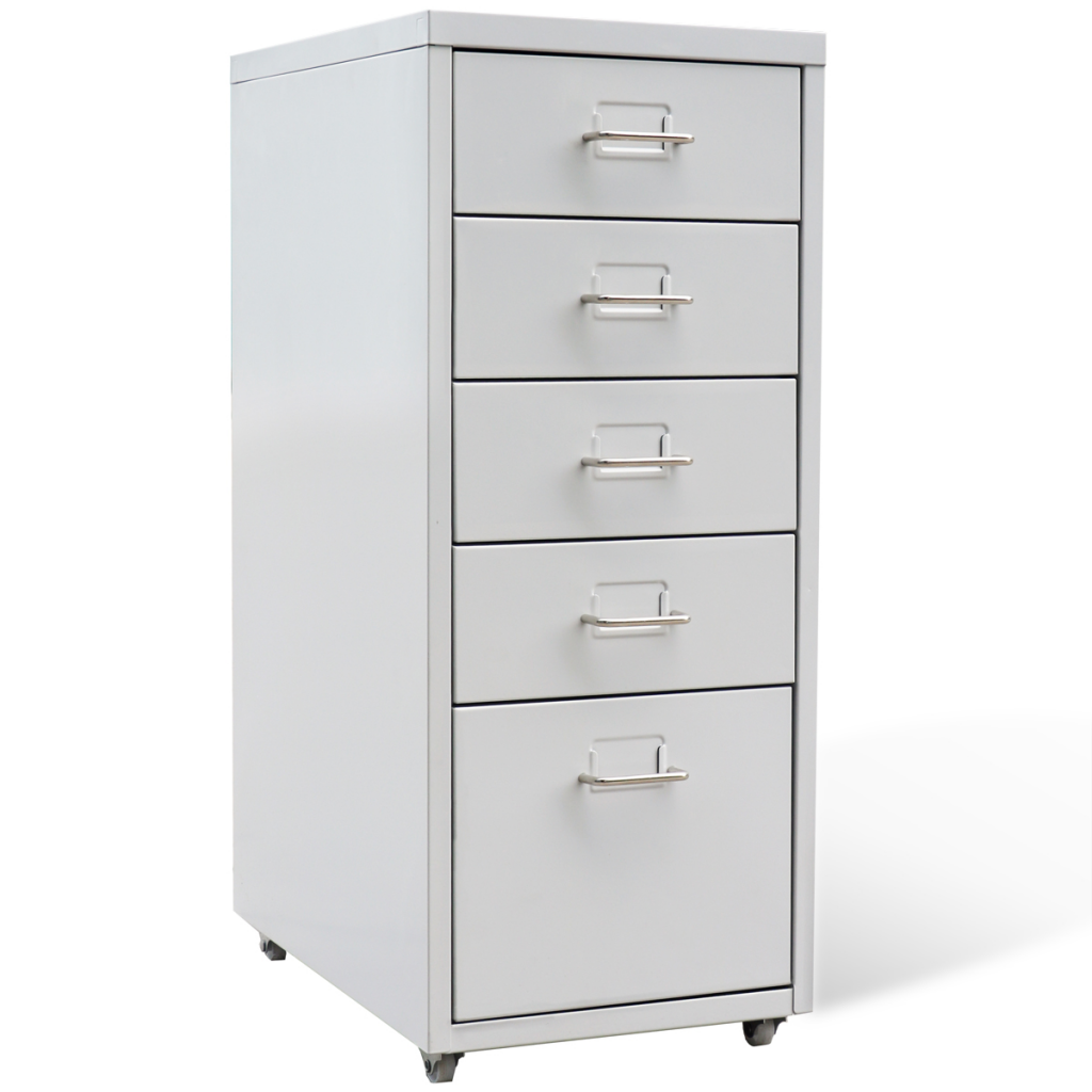 Picture of Metal Filing Cabinet with 5 Drawers - Gray