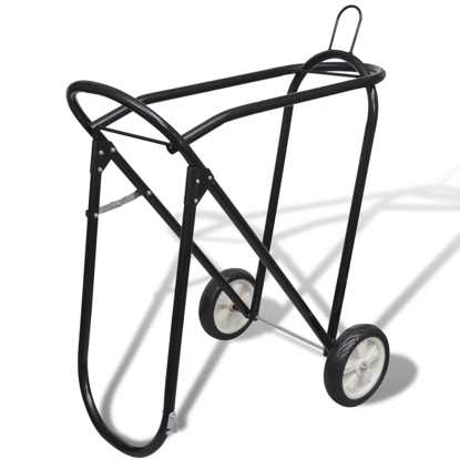 Picture of Metal Foldable Saddle Rack with Wheels