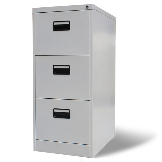 Picture of Metal Hanging File Cabinet 3 Drawers - Gray