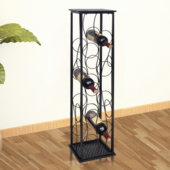Picture of Metal Wine Rack Wine Stand for 8 Bottles