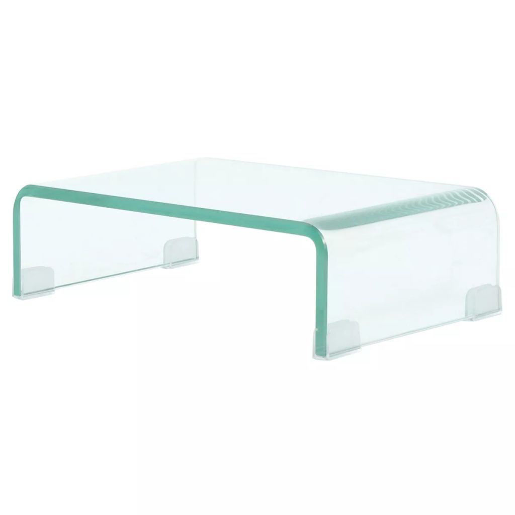"""Picture of Monitor Riser/TV Stand 15"""" - Glass Clear"""