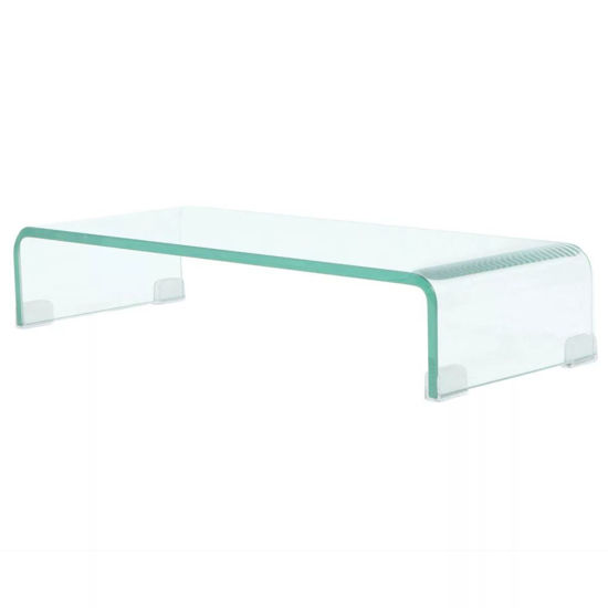 """Picture of Monitor Riser/TV Stand 23"""" - Glass Clear"""