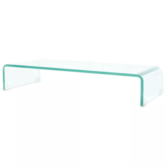 """Picture of Monitor Riser/TV Stand 27"""" - Glass Clear"""