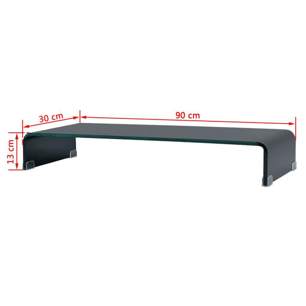 """Picture of Monitor Riser/TV Stand 35"""" - Glass Black"""