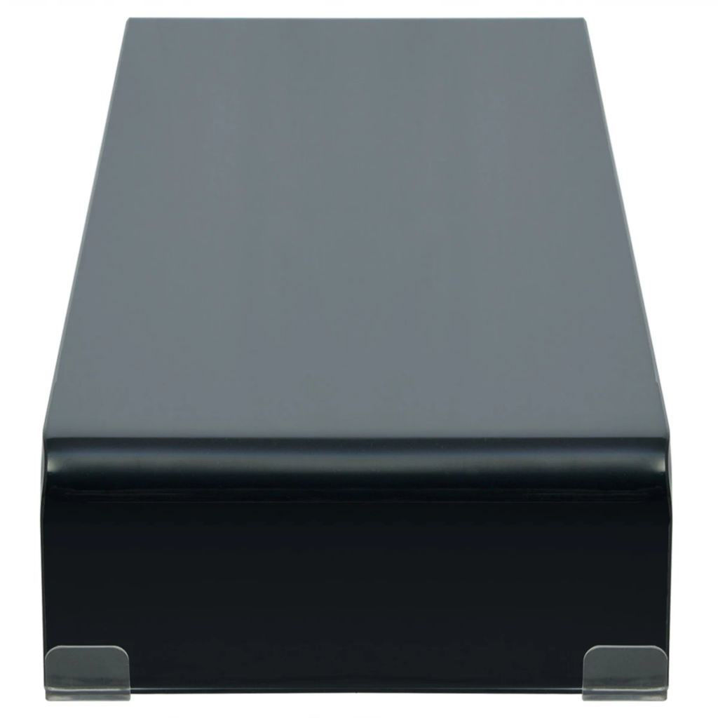 """Picture of Monitor Riser/TV Stand 39"""" - Glass Black"""