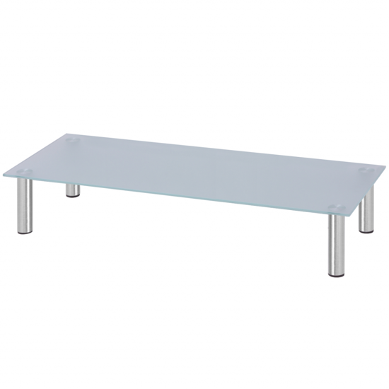 """Picture of Monitor Riser/TV Stand 39"""" - Glass White"""
