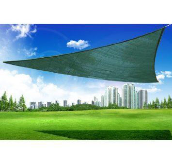 Picture of Outdoor 10' Triangle Sun Shade Sail Canopy - Green