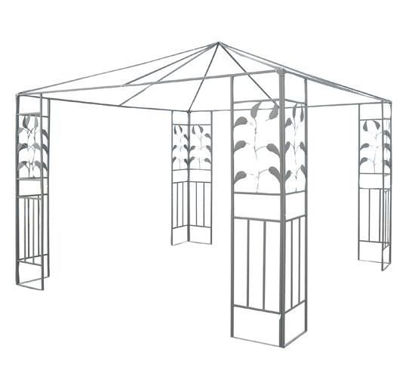 Picture of Outdoor 10' x 10' Steel Gazebo Frame - Leaf Design