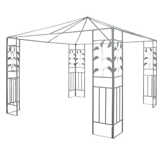 Picture of Outdoor 10' x 10' Steel Gazebo Frame - Leaf Design