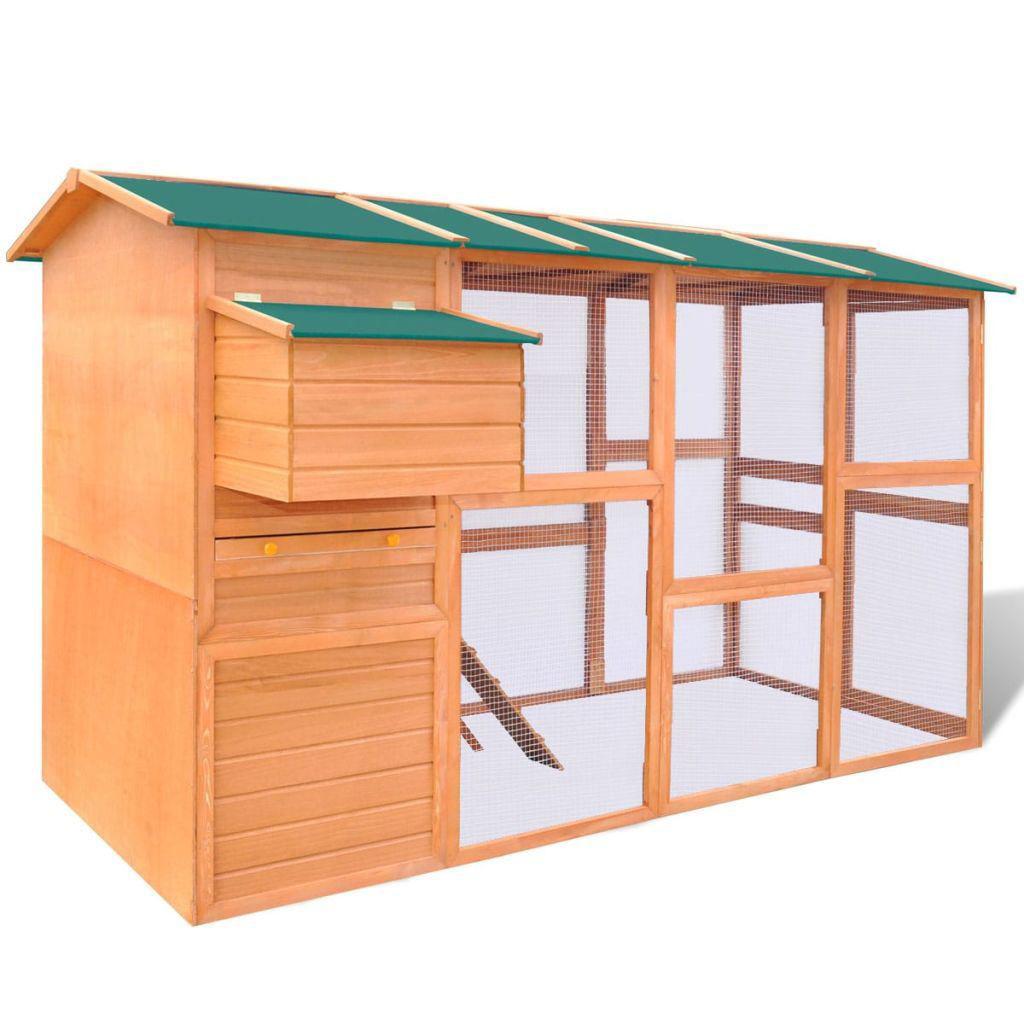 """Picture of Outdoor 116"""" Wooden Chicken Coop"""