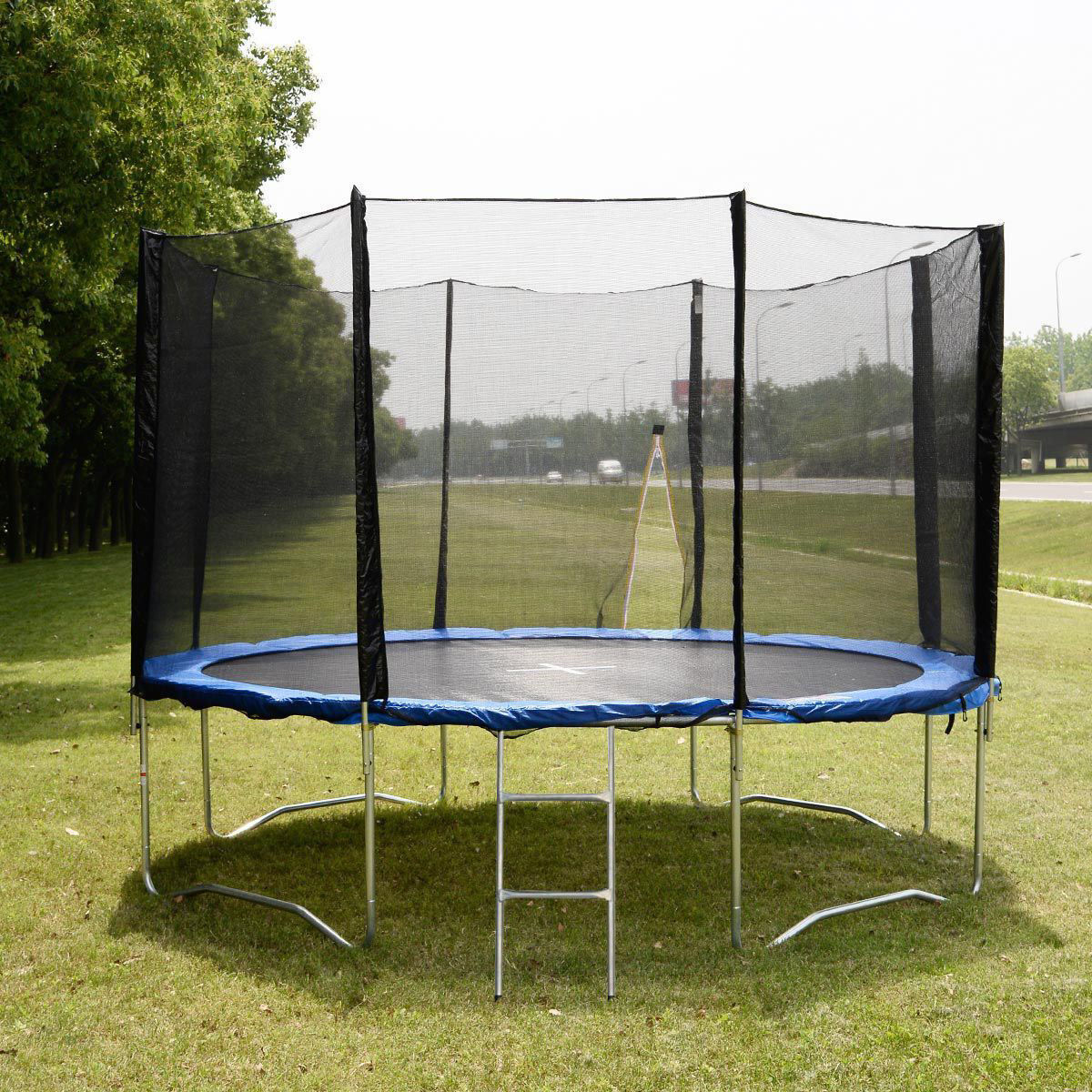 Picture of Outdoor 12' Round Trampoline Bounce Net with Sprint Pad