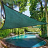 Picture of Outdoor 16.5' Triangle Sun Shade Sail Canopy - Green