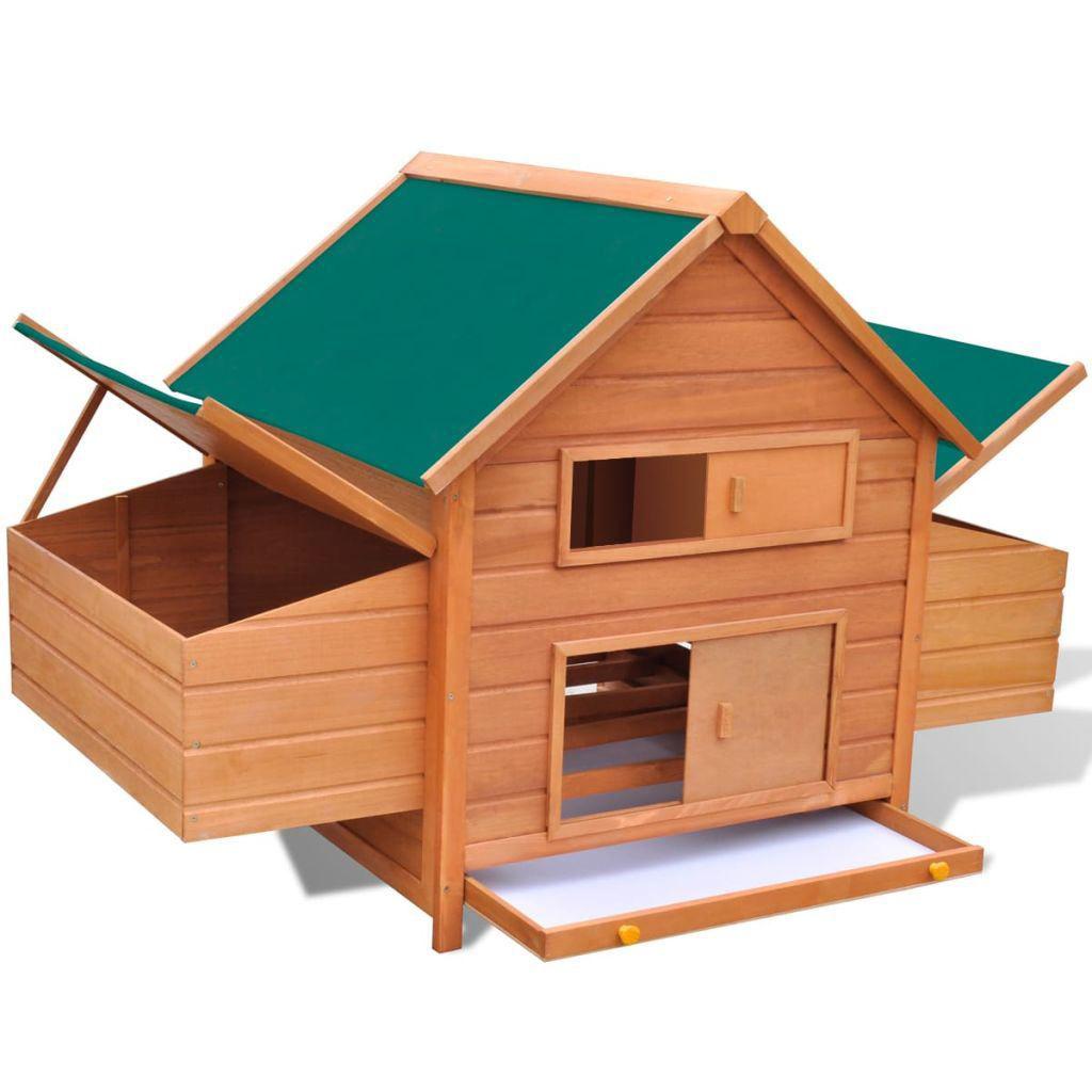 """Picture of Outdoor 61"""" Wooden Chicken Coop"""