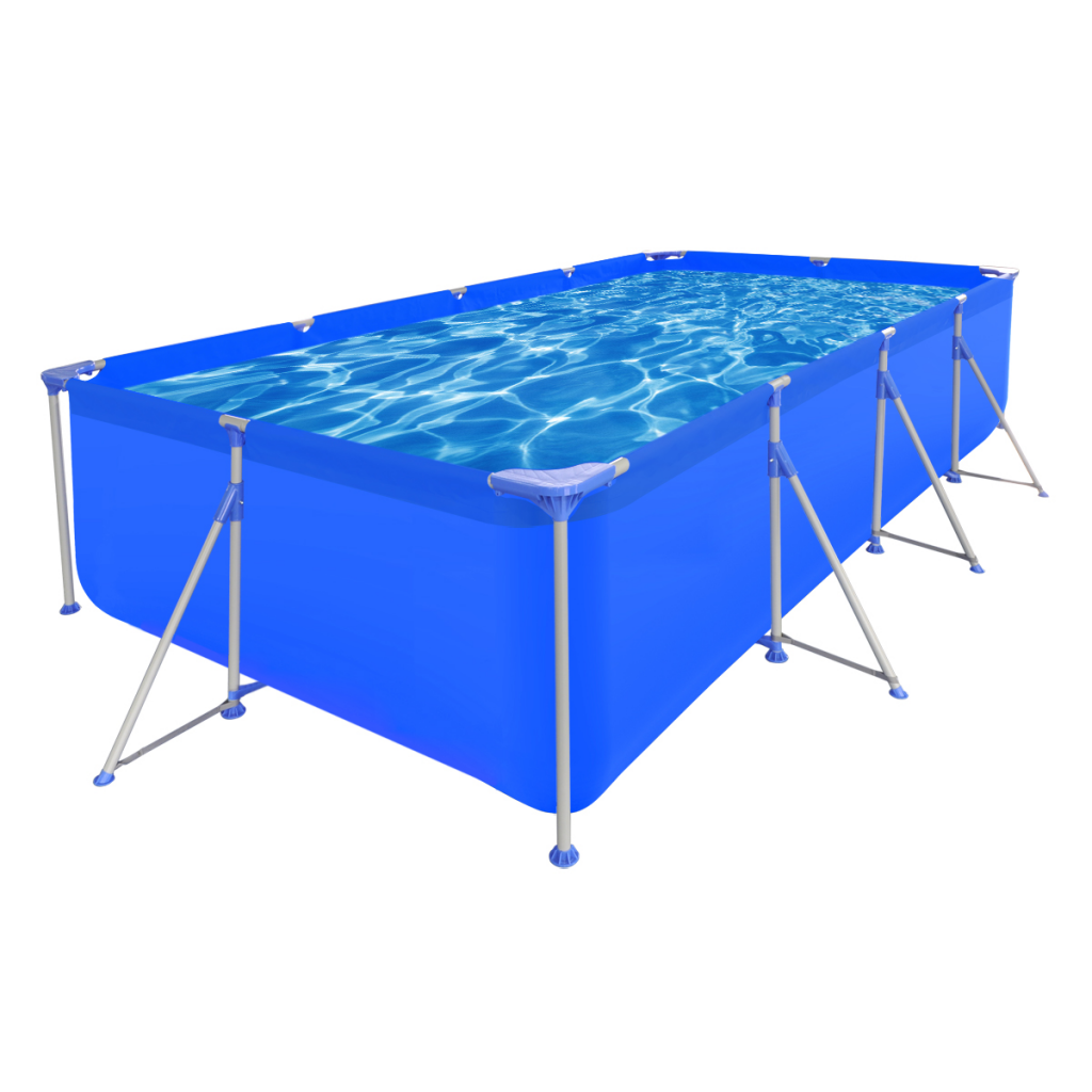 """Picture of Outdoor Above Ground Swimming Pool Steel Rectangular 12' 11"""" x 6' 10"""" x 2' 7"""""""