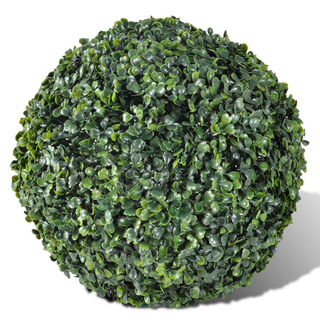 """Picture of Outdoor Artificial Boxwood Ball 10"""" - 2 pcs"""