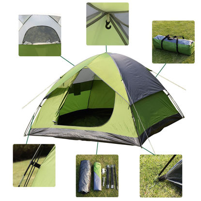 Picture of Outdoor Camping Hiking Waterproof Tent for 2-3 Person/Man 1 Room
