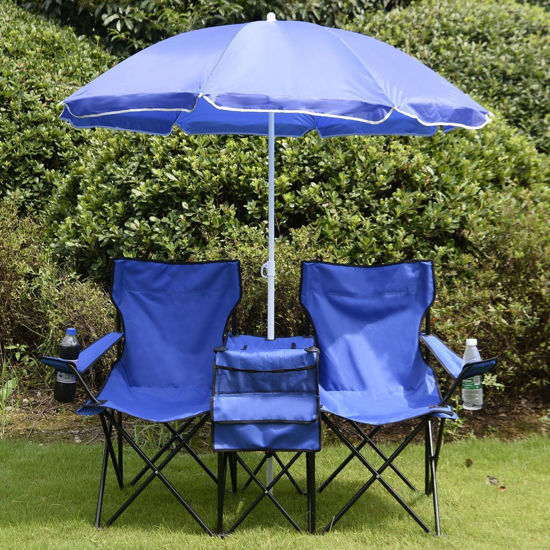 Picture of Outdoor Camping Table with Chair and Umbrella